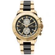 Relógio Technos Masculino Dourado Aço Inox Ceramic Cronógrafo JS15ET/4P