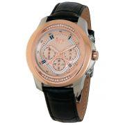Relógio W.Z.W Feminino Couro Cronógrafo Multi Função WZW-7272