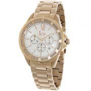 Relógio W.Z.W Feminino Dourado Cronógrafo Aço Inoxidável WZW-7259