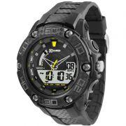 Relógio X-Games Masculino Preto Digital Cronógrafo Silicone XMPPA172 BXPX