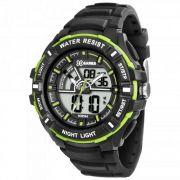 Relógio X-Games Masculino Preto Digital Cronógrafo Silicone XMPPA188 BXPX