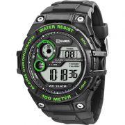 Relógio X-Games Masculino Preto Digital Cronógrafo Silicone XMPPD320 BXPX