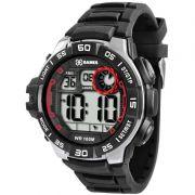 Relógio X-Games Masculino Preto Digital Cronógrafo Silicone XMPPD327 BXPX