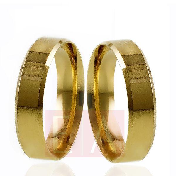 Alianças Ouro Noivado Casamento 18k Quadrada Chanfrada Anatômica 5mm 10 Gramas o Par
