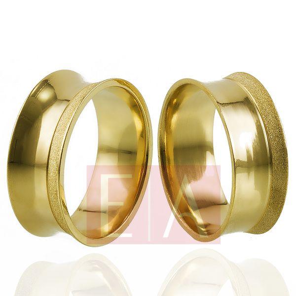 Alianças em Ouro Noivado Casamento Côncova 8mm 9gr Anatômica