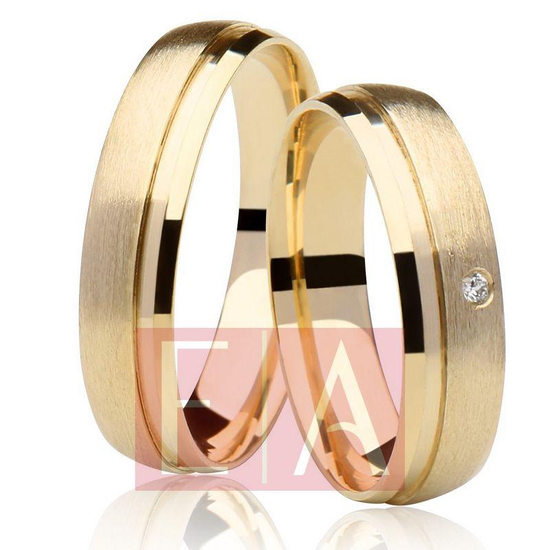 Alianças em Ouro Noivado Casamento Redonda Anatômica Fosca 5mm 6 Gramas