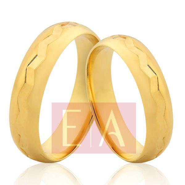 02e80867683 Alianças em Ouro Noivado Casamento Trabalhada 5mm 10 Gramas Redonda  Anatômica - Empório das Alianças