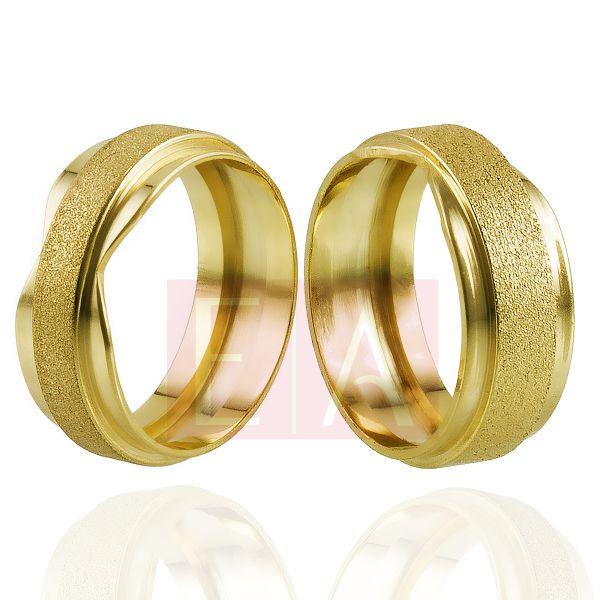 Alianças em Ouro Noivado Casamento Trabalhada Laser 8mm 10gr Oca