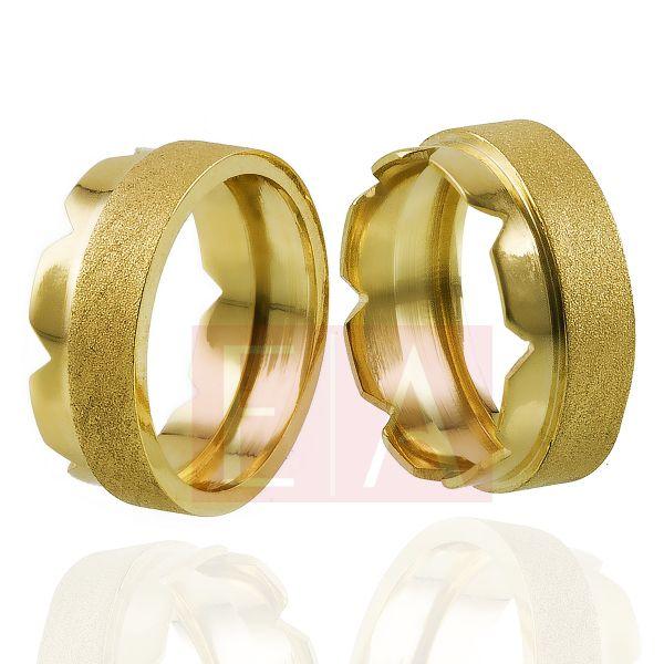 Alianças em Ouro Noivado Casamento Trabalhada Laser 8mm 12gr Oca