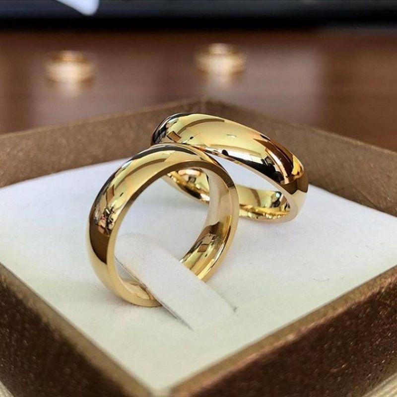 Alianças Ouro 18k Casamento Noivado Redonda Abaulada Anatômica 6mm 14 Gramas o Par