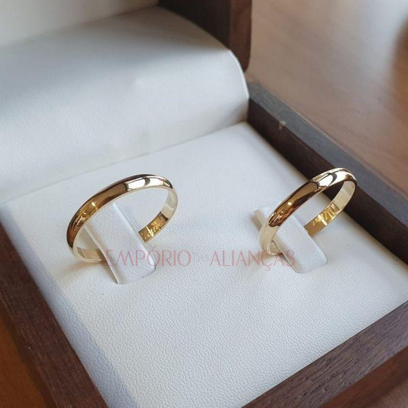 Alianças de Casamento Ouro 18k