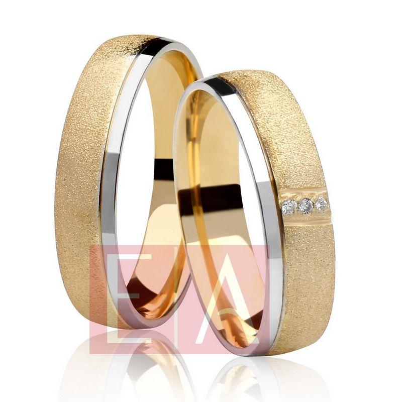 Alianças Ouro Casamento Noivado 18k Bodas de Prata Redonda Pedra Brilhante 5mm 8 Gramas