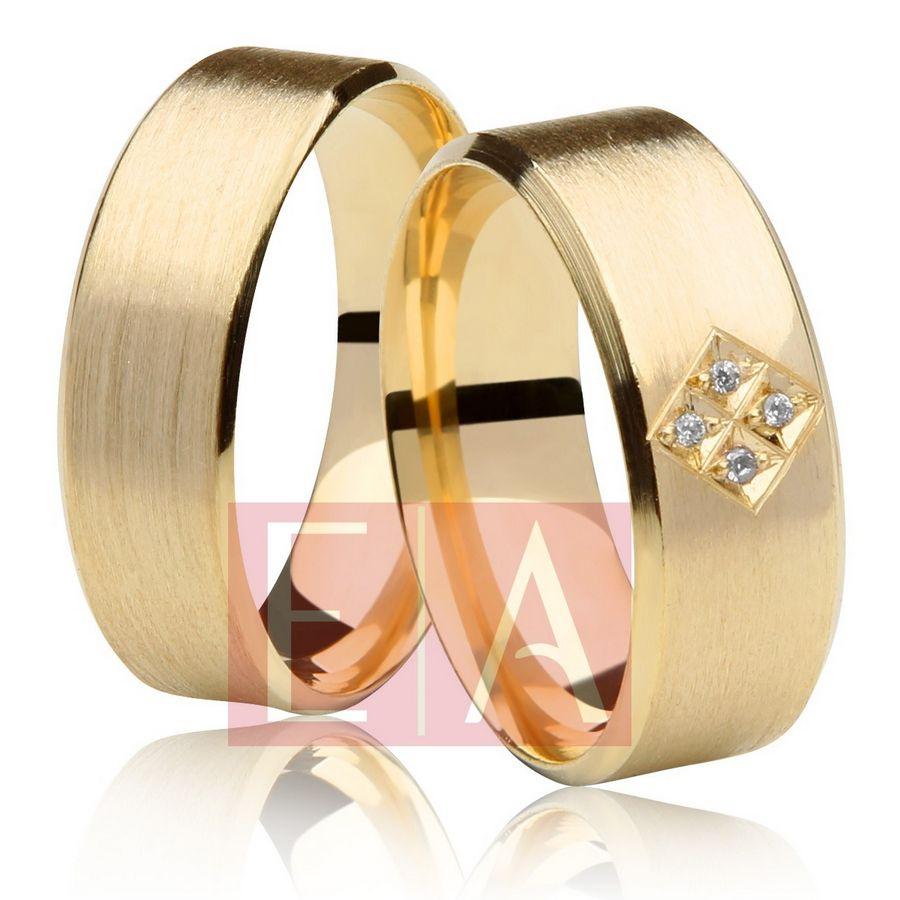 Alianças Ouro Casamento Noivado 18k Chanfrada Quadrada Fosca Anatômica 7mm 15 Gramas