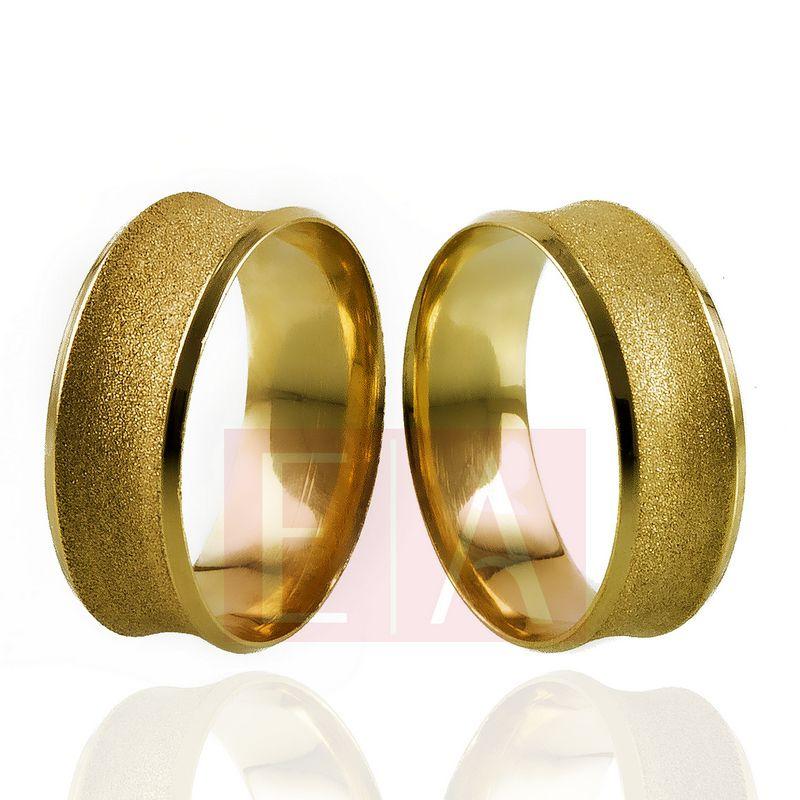 Alianças Ouro Casamento Noivado 18k Concova Diamantada Anatômica 7mm  9 gramas