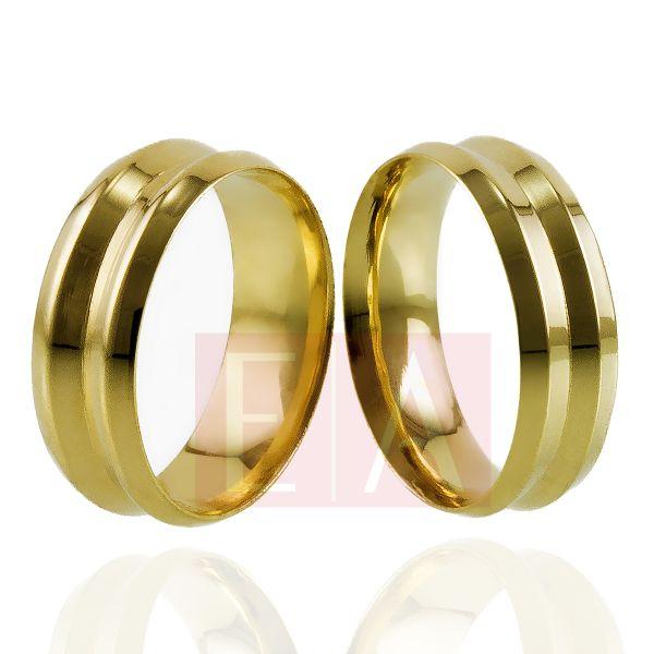 Alianças Ouro Casamento Noivado 18k Côncova Trabalhada Anatômica 7mm 11 Gramas
