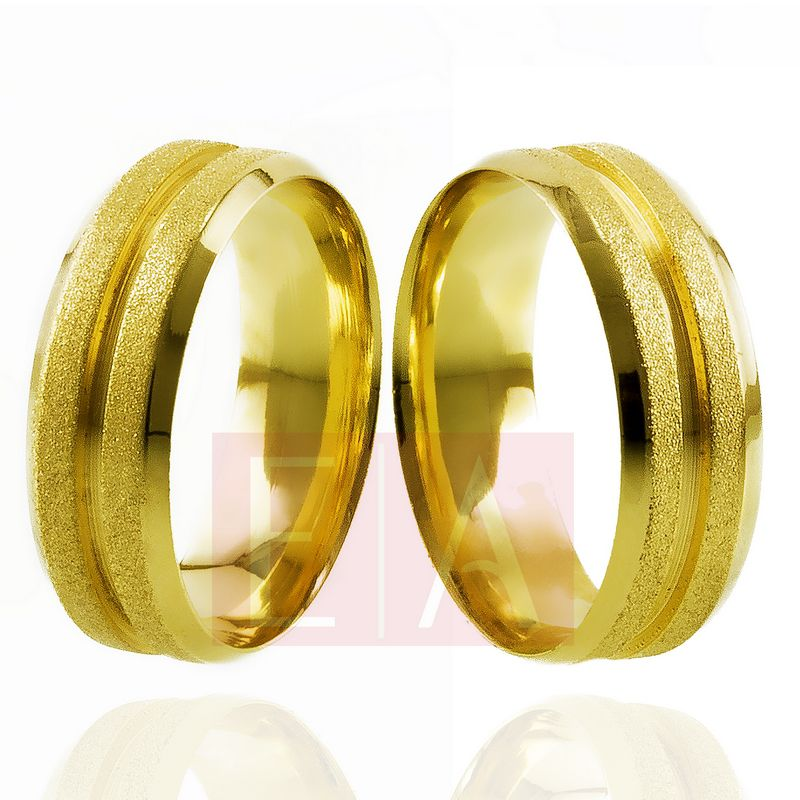 Alianças Ouro Casamento Noivado 18k Diamantada Quadrada Anatomica  7mm  12 gramas