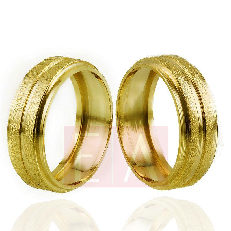Alianças Ouro Casamento Noivado 18k Fosca Oca Quadrada  7mm  8gramas