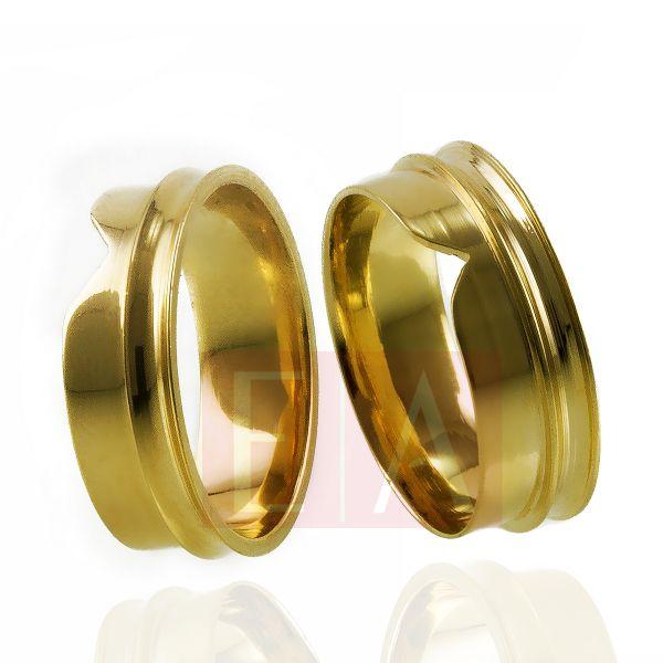 Alianças Ouro Casamento Noivado 18k Quadrada Anatômica Trabalhada 7mm 10 Gramas