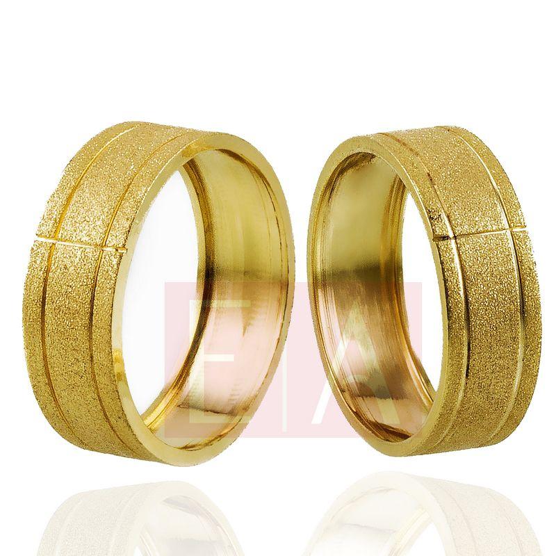 Alianças Ouro Casamento Noivado 18k Quadrada Diamantada Oca 7mm  9 gramas
