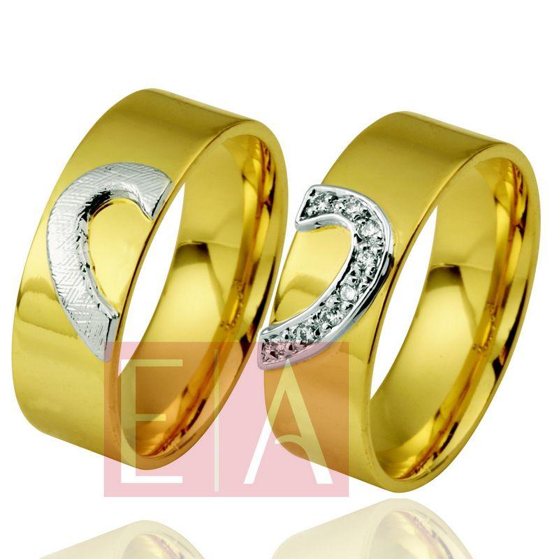 Alianças Ouro Casamento Noivado 18k Quadrada Polida Coração 7mm 17 gramas o Par