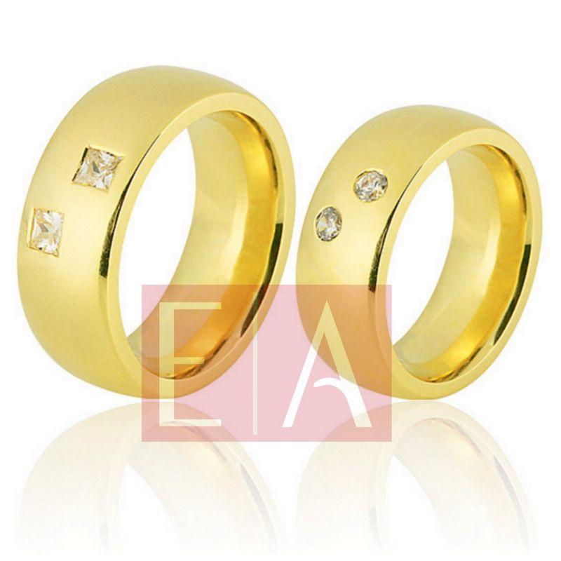 Alianças Ouro Casamento Noivado 18k Quadrada Polida  9 mm  44 gramas