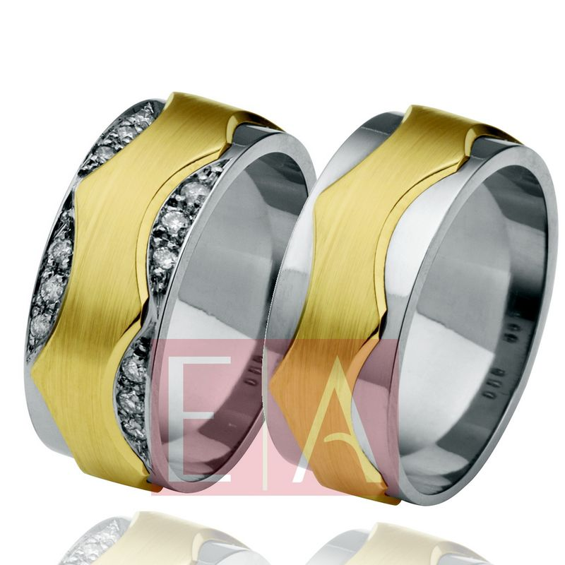 Alianças Ouro Casamento Noivado Bodas 18k Polida Acetinada 8 mm 22 gramas o Par