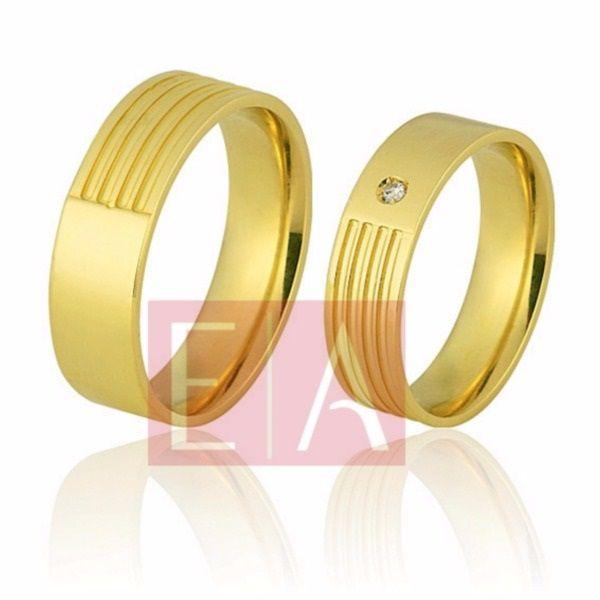 Alianças Ouro Noivado Casamento 18k Brilhante Trabalhada Quadrada 6mm 13 Gramas