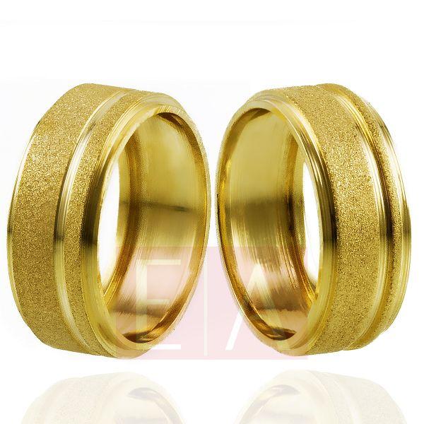 Alianças Ouro Noivado Casamento Trabalhada Quadrada Fosca 8mm 10gr Oca