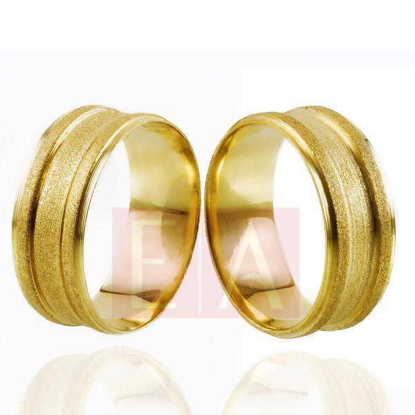 Alianças Ouro Noivado Casamento Trabalhada Quadrada Fosca 8mm 10gr Semi Anatômica