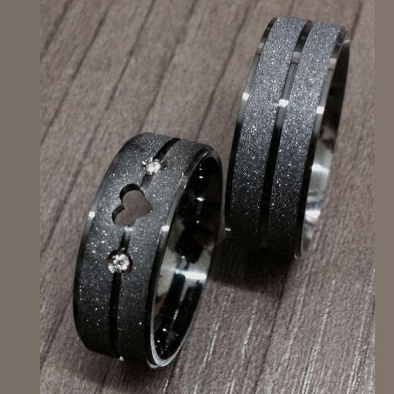 Alianças Prata Compromisso Namoro Quadrada Coração Vazado 8mm 14 Gramas Anatômica Ródio Negro