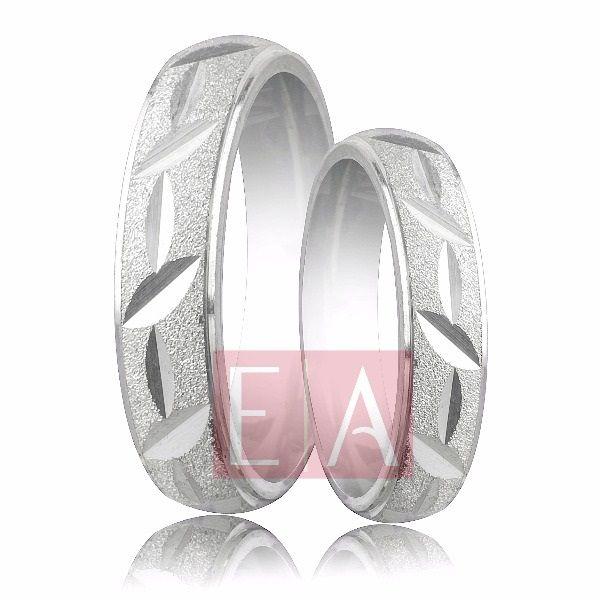 Alianças Prata Compromisso Namoro Quadrada Diamantada Reta 5mm 8 gramas trabalhada