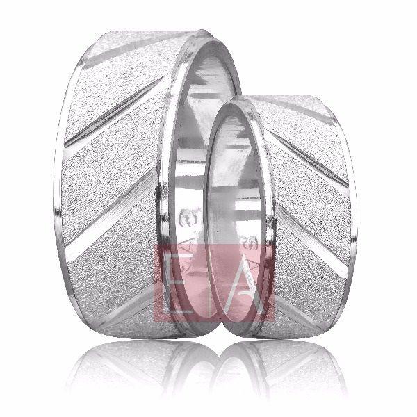 Alianças Prata Compromisso Namoro Quadrada Diamantada Reta 8mm 14 gramas Trabalhada