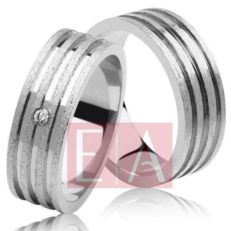 Alianças Prata Compromisso Namoro Quadrada Fosca Pedra Zircônia Lisa 8mm 12 gramas Anatômica