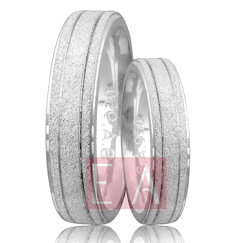 Alianças Prata Compromisso Namoro Quadrada Fosca Trabalhada 5mm 10 Gramas