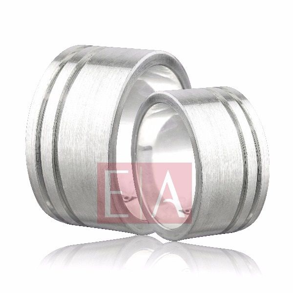Alianças Prata Compromisso Namoro Quadrada Fosco Acetinada 12mm 22 gramas Larga