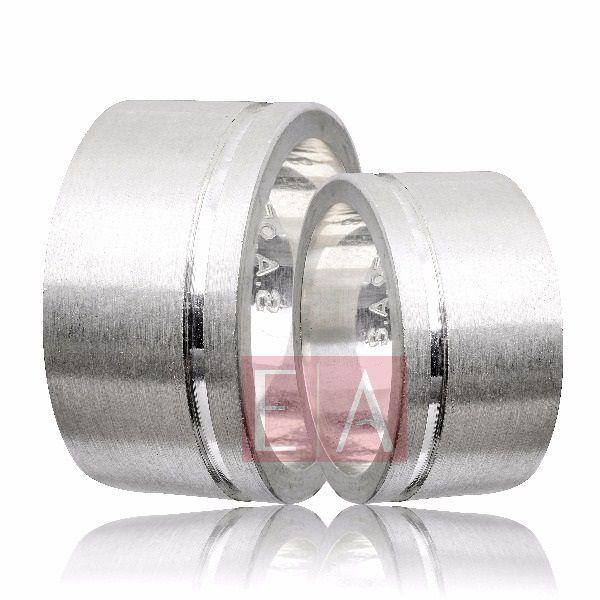 Alianças Prata Compromisso Namoro Quadrada Lisa Acetinada 12 mm 22 gramas Trabalhada Friso