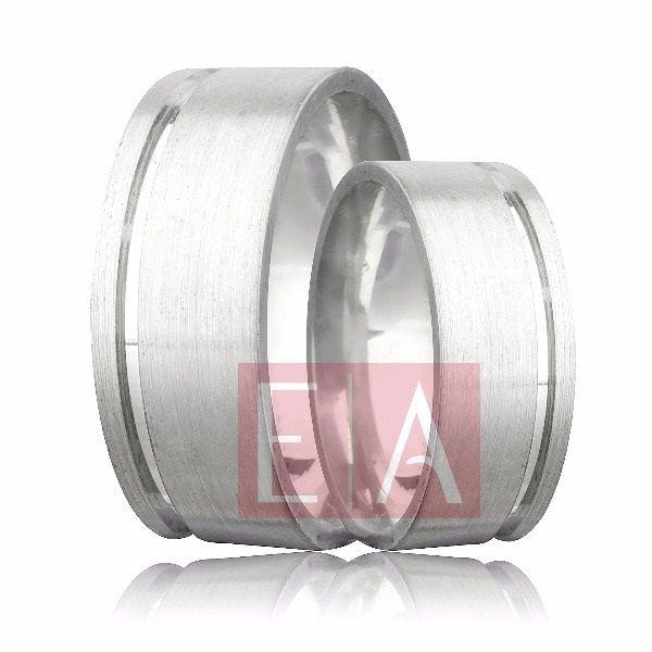 Alianças Prata Compromisso Namoro Quadrada Lisa Acetinada 8 mm 14 gramas Trabalhada Friso