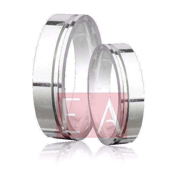 Alianças Prata Compromisso Namoro Quadrada Lisa Polida 5 mm 8 gramas Trabalhada Friso