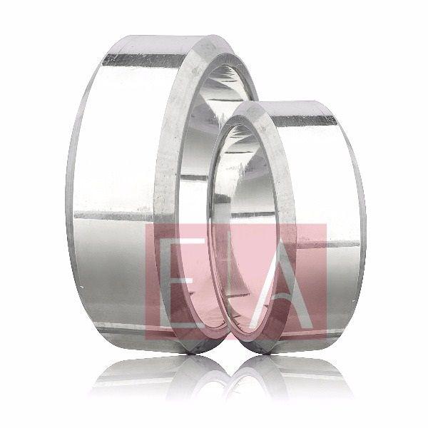 Alianças Prata Compromisso Namoro Quadrada Polida Lisa 8mm 16 gramas Anatômica