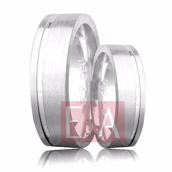 Alianças Prata Compromisso Namoro Quadrada Polido Diamantado 6 mm 10 gramas Trabalhada Friso