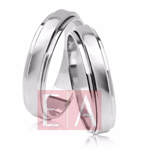 Alianças Prata Compromisso Namoro Quadrada Trabalhada 6mm 8 gramas Anatômica