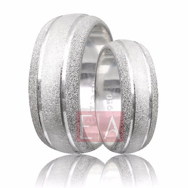 Alianças Prata Compromisso Namoro Redonda Diamantado 8 mm 16 gramas Trabalhada Friso