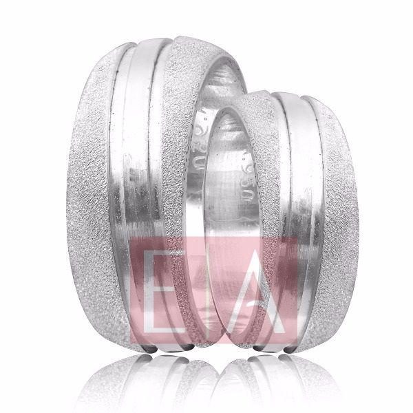 Alianças Prata Compromisso Namoro Redonda Fosca Diamantada Trabalhada Friso 8 mm 16 gramas