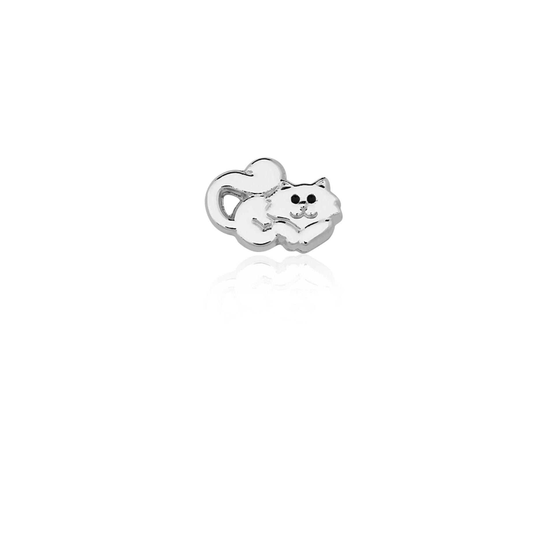Berloque Prata Gatinho Persa Linha Animais Pendurado
