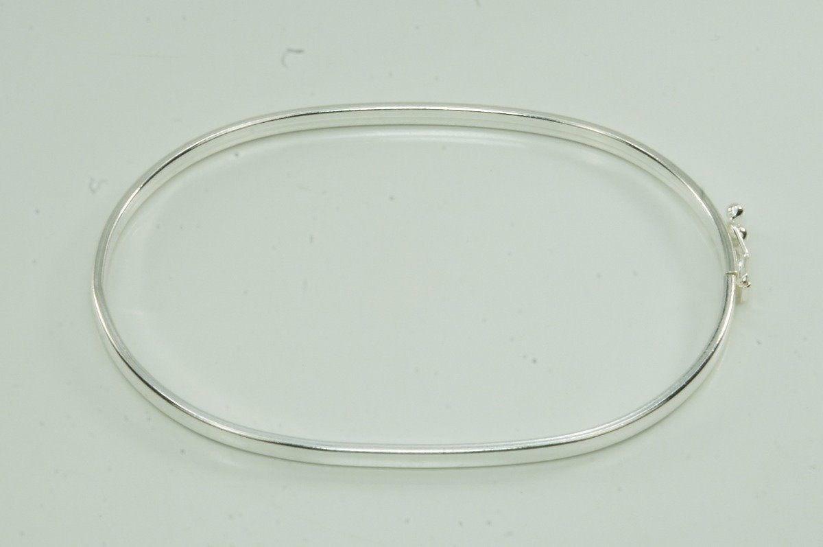 Bracelete Feminino Prata Maciço 19 cm