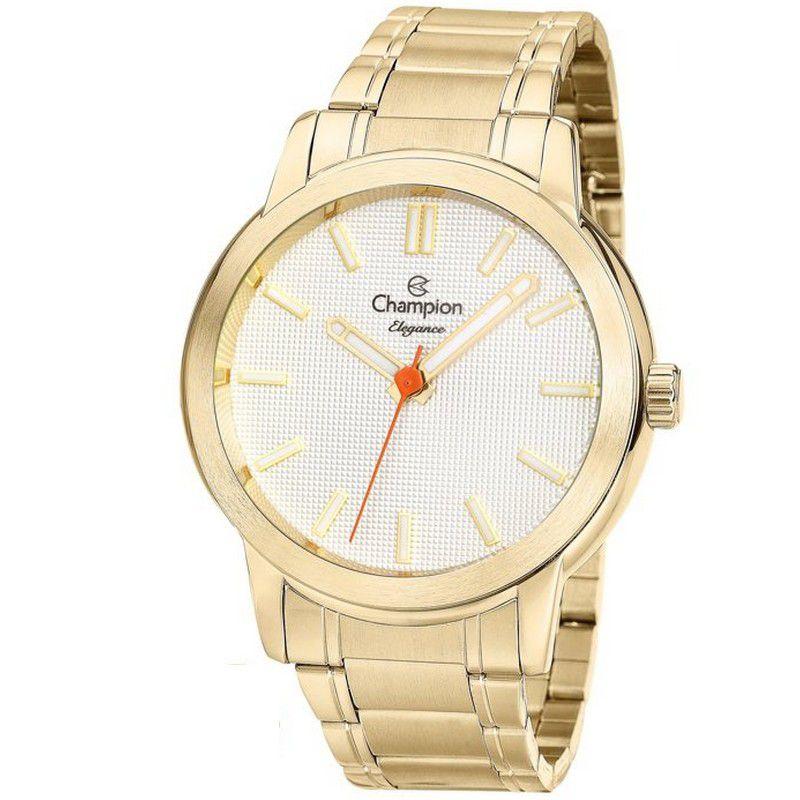 Relógio Champion Feminino Dourado Analógico Elegance CN27545H
