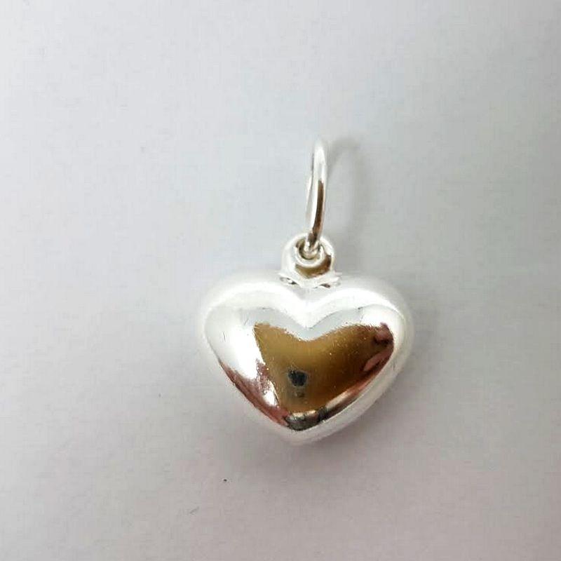Pingente Coração Prata 925 Feminino Liso Médio 1,20 Gramas