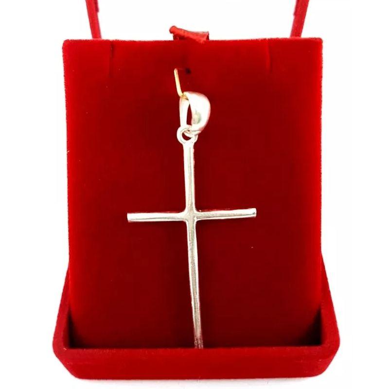 Pingente Cruz Prata Crucifixo Médio Unissex 2,50 Gramas