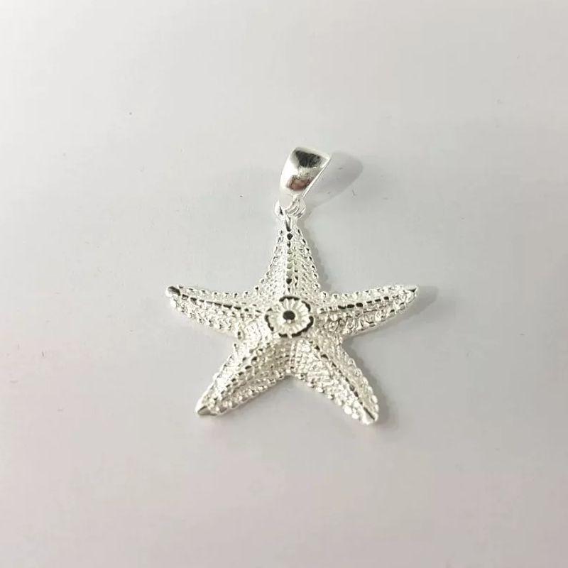 Pingente Estrela do Mar Feminino Desenhado 3cm 4,20 Gramas