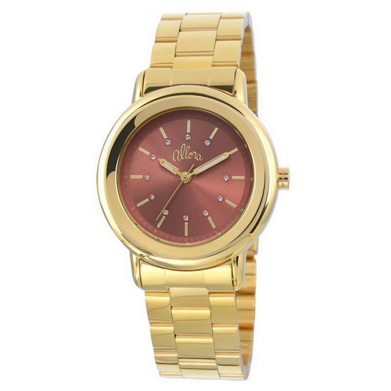 Relógio Allora Feminino Dourado Analógico Aço Inox AL2035EYK/4M